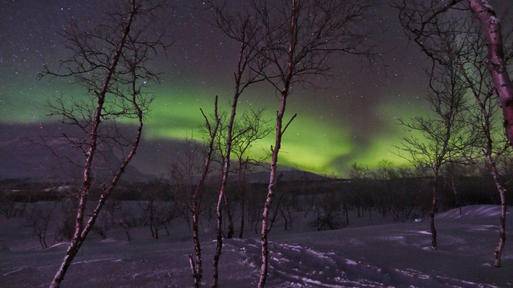 Aurore boréale à Kilpisjärvi par Laurent Dussillols, janvier 2020