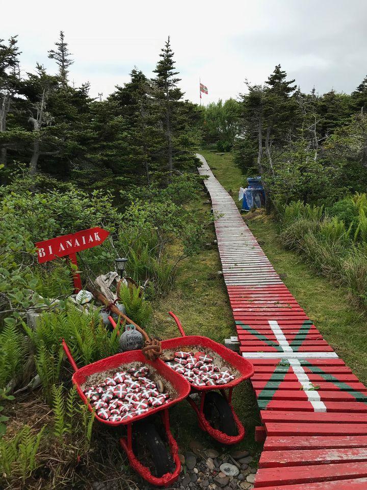 Saint-Pierre-et-Miquelon aux couleurs du Pays basque. Photo : Nord Espaces