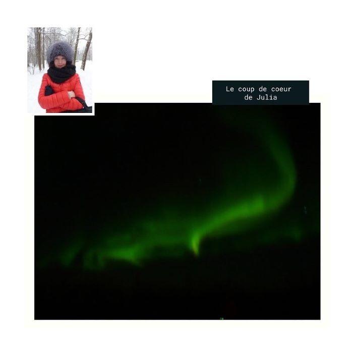 Le coup de coeur de Julia : une aurore boréale aux Lofoten. Photo : Julia de Nord Espaces