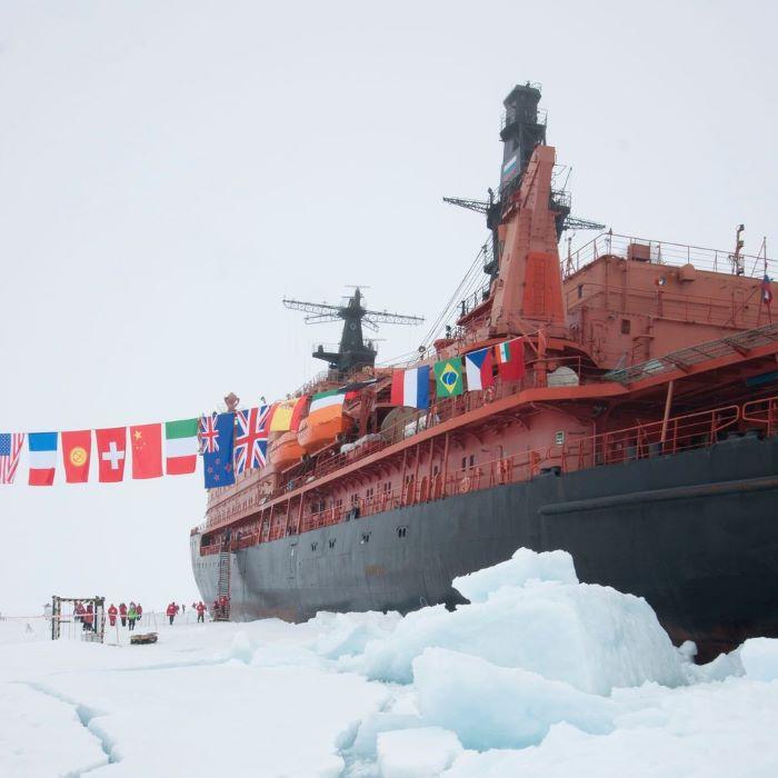 Débarquement au Pôle Nord ! Photo : André de Nord Espaces
