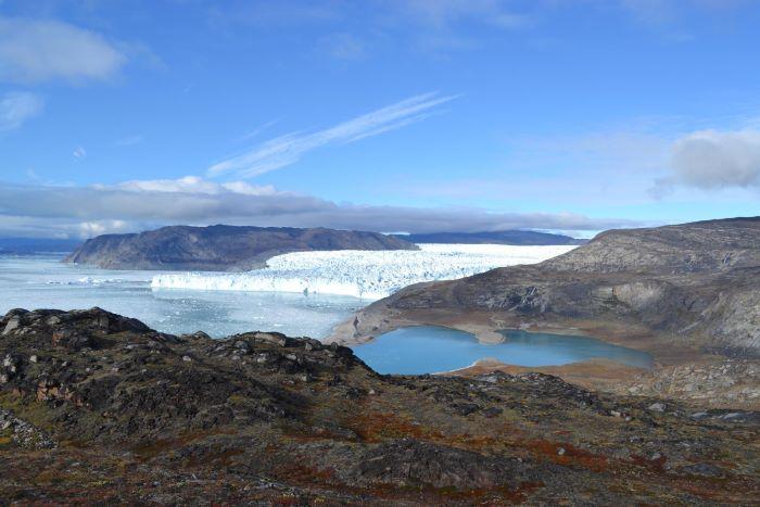 Le glacier Eqipsermia au Groenland. Photo : Valérie de Nord Espaces