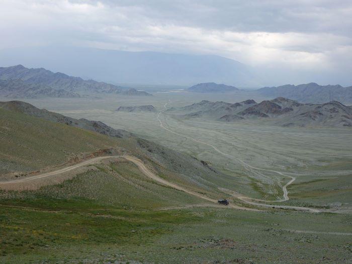 Sur les pistes de l'Altaï en Mongolie. Photo : Sébastien de Nord Espaces