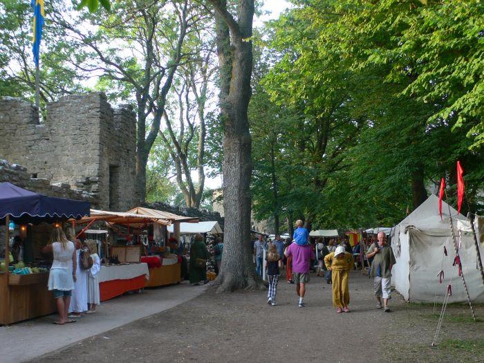Lors de la Semaine médiévale à Visby, en Suède. Photo : André de Nord Espaces