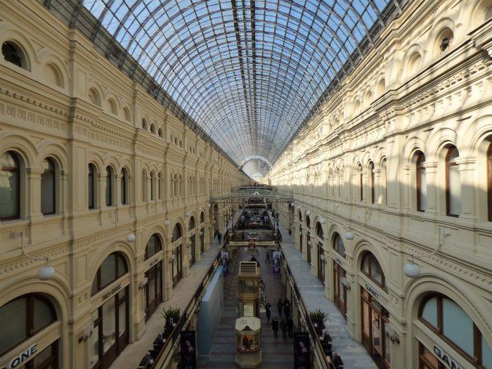 La galerie du Goum à Moscou. Photo : Sébastien de Nord Espaces