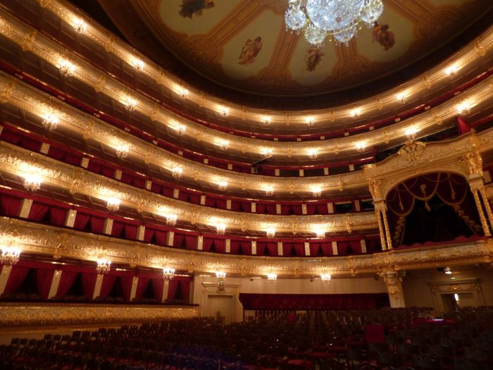 La salle du théâtre Bolchoï à Moscou. Photo : Julia de Nord Espaces