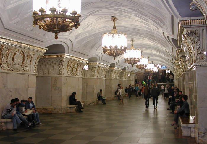 La station Prospekt Mira du métro de Moscou. Photo : Sébastien de Nord Espaces