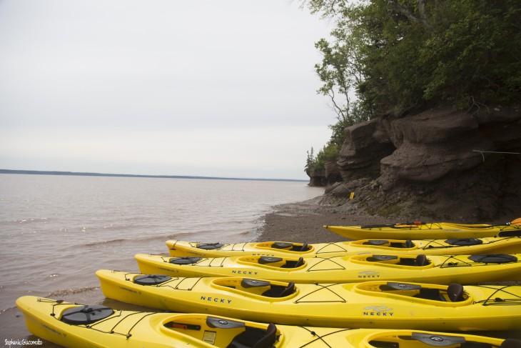 Kayak en baie de Fundy, Nouveau-Brunswick, Canada - Nord Espaces