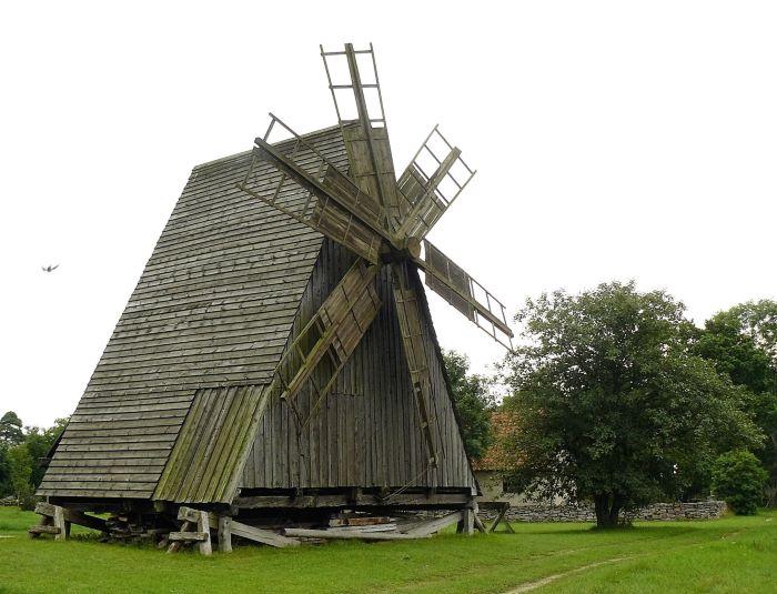 Moulin historique sur l'île de Gotland. Photo Nord Espaces