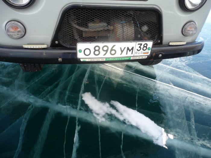 Sur la route de glace du lac Baïkal. Photo : Nord Espaces