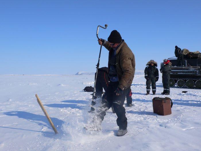 La pêche blanche se mérite. Photo : Julia de Nord Espaces