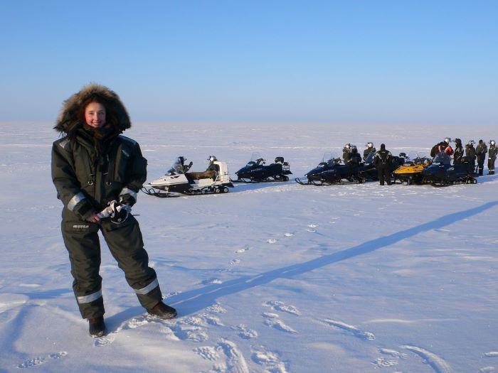 Julia dans la toundra de Tchoukotka. Photo : Nord Espaces