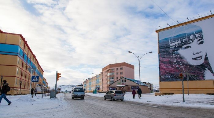 Une rue d'Anadyr, capitale du district russe de Tchoukotka - Photo : Julia de Nord Espaces