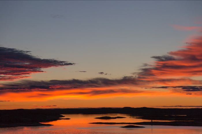 Coucher de soleil au Canada. Photographie Copyright © Stéphanie Thevenon - All rights reserved.