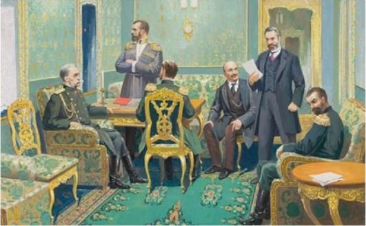 Abdication de Nicoals II a Pskov