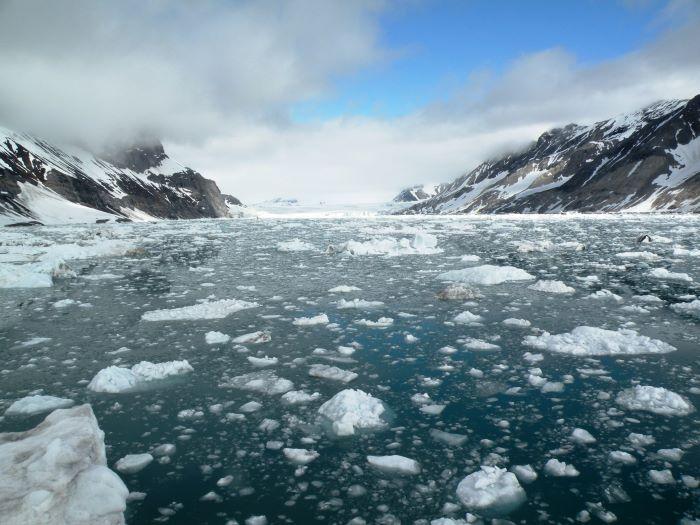 Le glacier Burgerbukta. Photo : Annick et Gérard P.