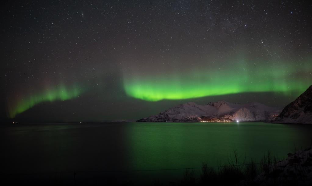 Danse avec les aurores boréales en Norvège, février 2020