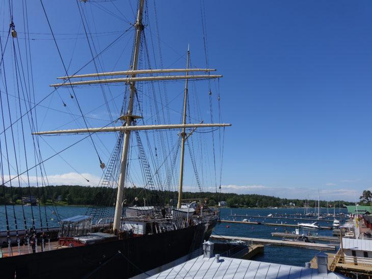 bateau Pommern dans les îles Aland, en Finlande