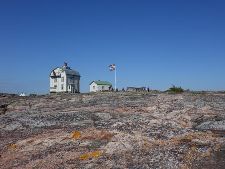 l'archipel d'Aland en Finlande, ses jolies maisons et son ciel bleu en été