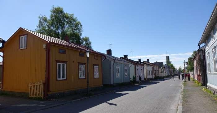 Une rue du Neristan à Kokkola. Photo : Sébastien de Nord Espaces