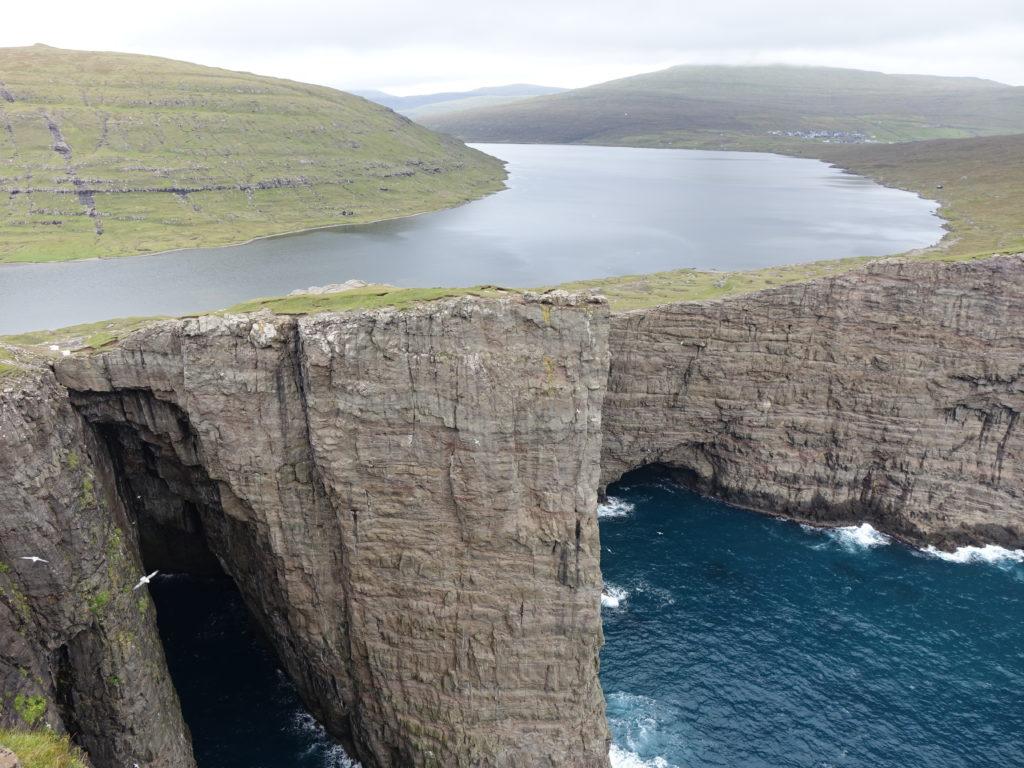 paysage lac îles Féroé