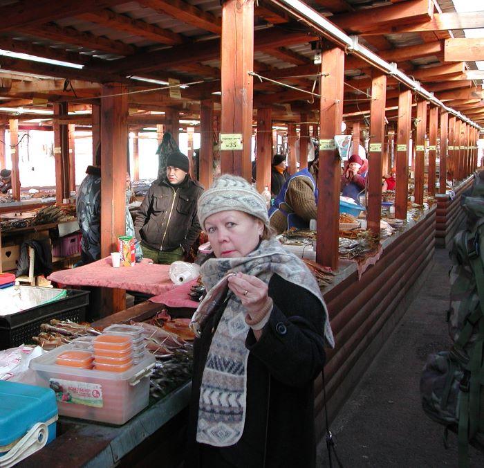 Au marché au poisson d'Irkoutsk. Photo : Sébastien de Nord Espaces