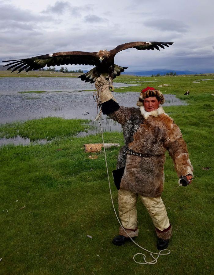 Un moment de grâce dans l'Altaï mongol. Photo : Sébastien de Nord Espaces