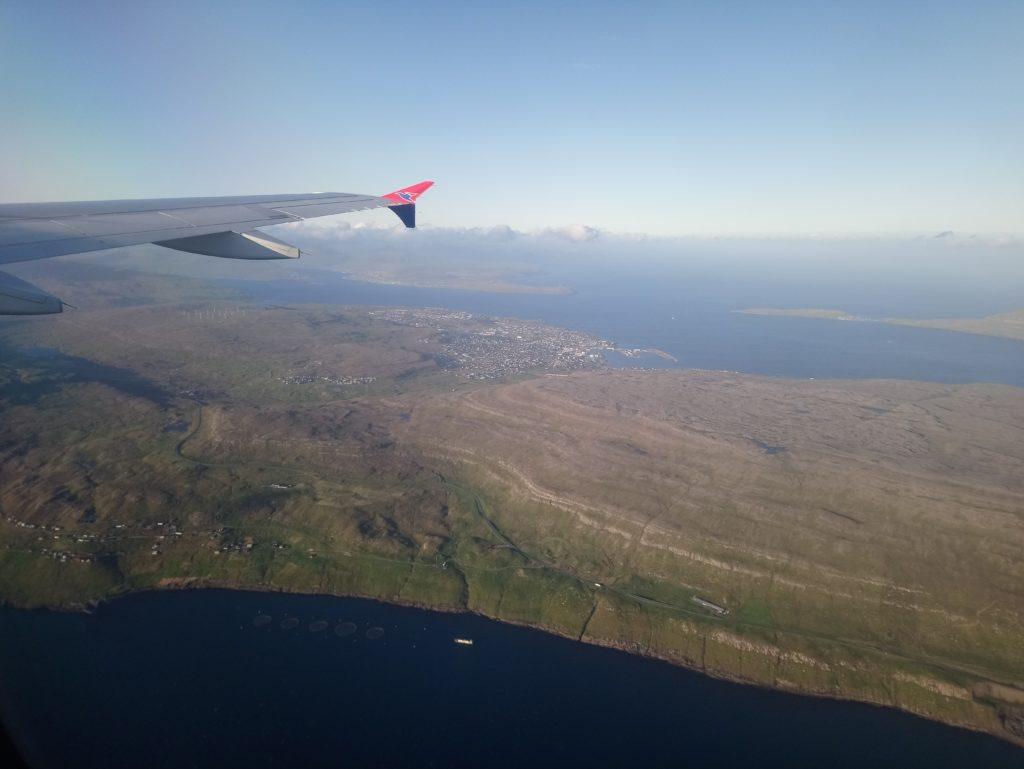 vue aérienne des îles feroe