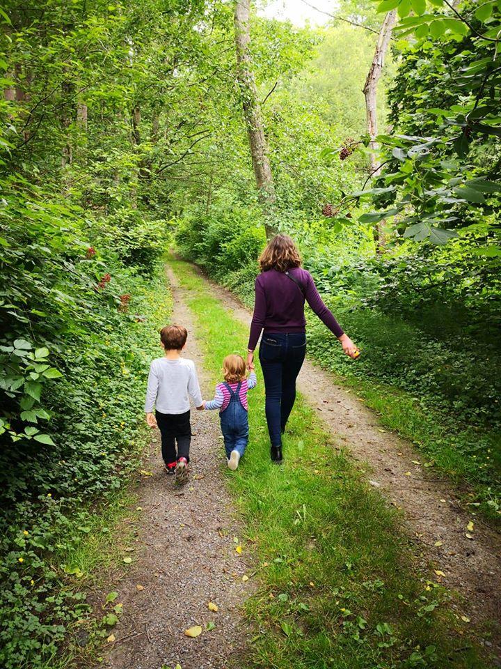 Promenade en forêt vers de nouvelles aventures. Photo : Natacha de Nord Espaces