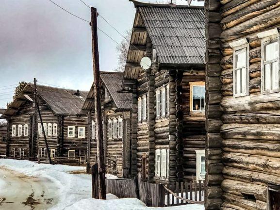 Maisons traditionnelles d'Arkhangelsk, Julia Shilaeva, mars 2020