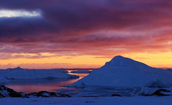 Coucher de soleil au Groenland. Photo : Chantal T.