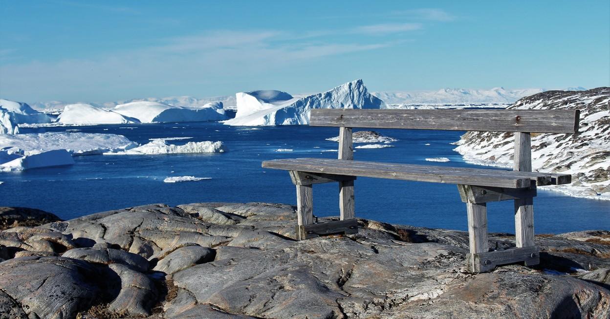 Pour les amoureux des bancs publics. Photo : Chantal T. au Groenland