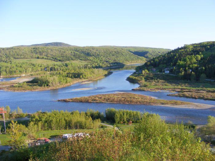 Confluence des rivières Matapédia et Restigouche par Marjolaine B.
