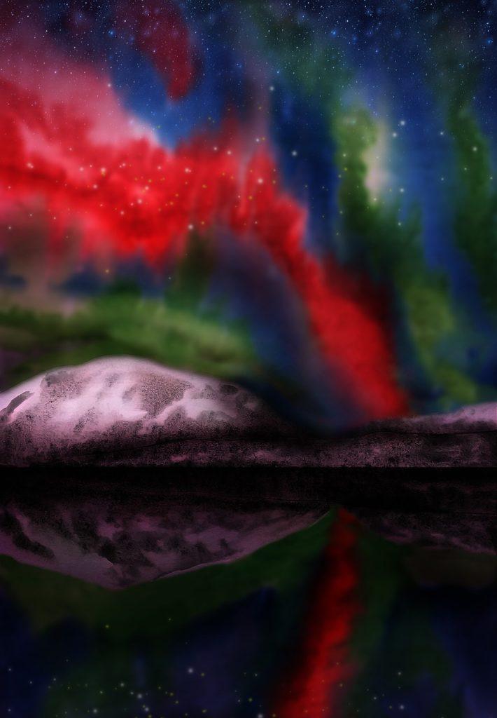 Une aurore boréale par Виктория Бородинова
