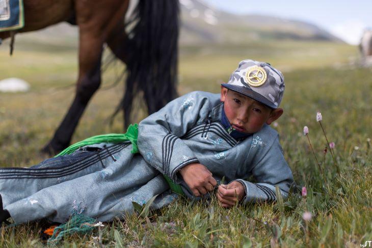 Mungunshagai, 9 ans, enfant Touva, Altaï, Mongolie