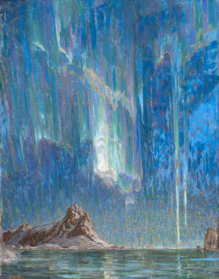 Anna Boberg, Aurores Boréales, études du Nord de la Norvège, 1903-1904