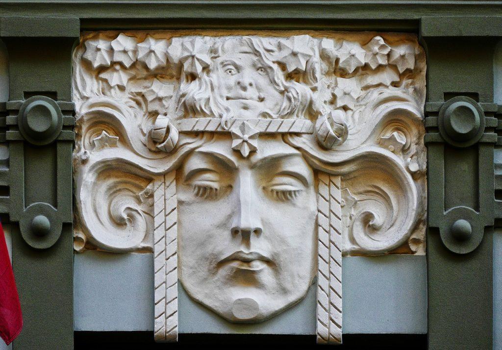 Ornementation Art Nouveau à Riga, Lettonie, par Wolfgang Eckert