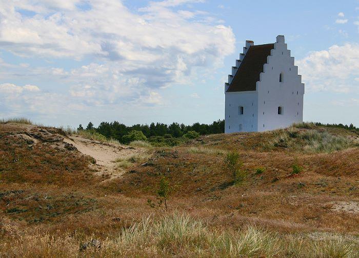 Le clocher de l'église ensevelie de Skagen par Malene Thyssen