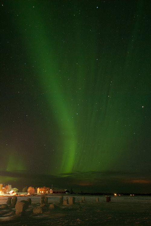 Aurore boréale dans la région d'Ylläs en Finlande, Andrea de Nord Espaces
