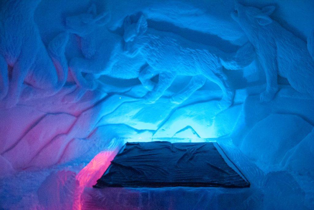 Hôtel de glace de Lainio, Andrea de nord Espaces