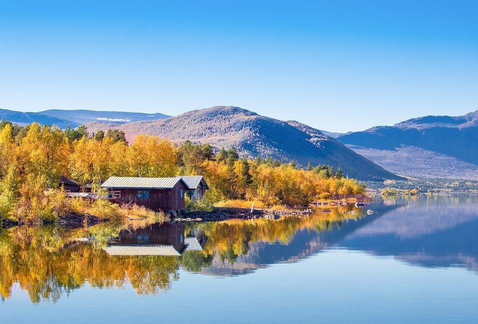 paysage d'automne bjorkudden en Laponie suédoise