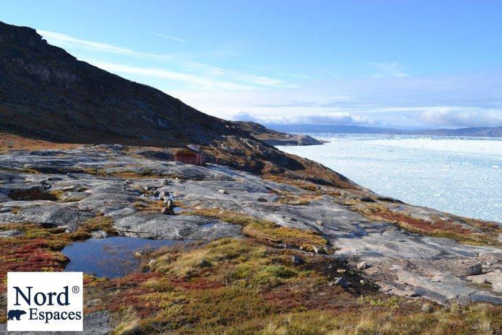 Vue sur le glacier Eqip Sermia au Groenland - Nord Espaces Boréalis