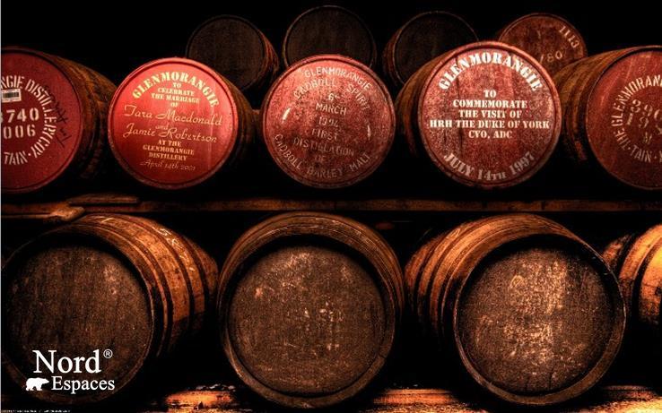 Fûts de whisky écossais