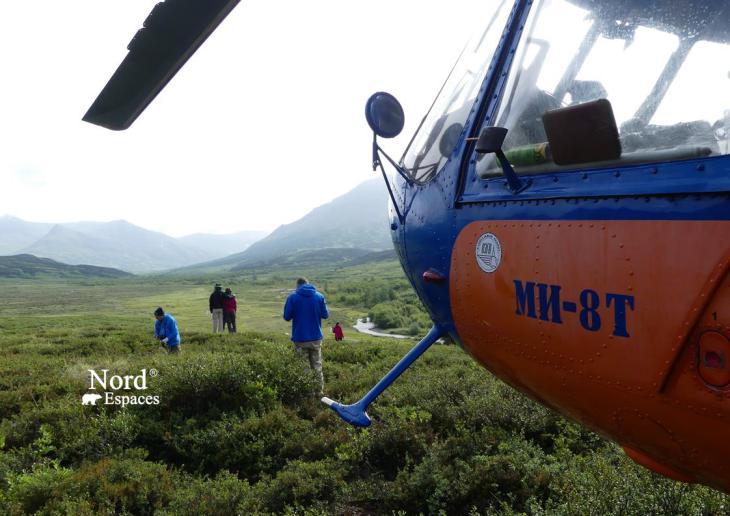 Atterrissage en pleine nature au Kamtchatka, Russie