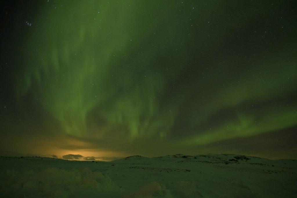 Aurore boréale en Islande, Jean-Louis Aisse, février 2020