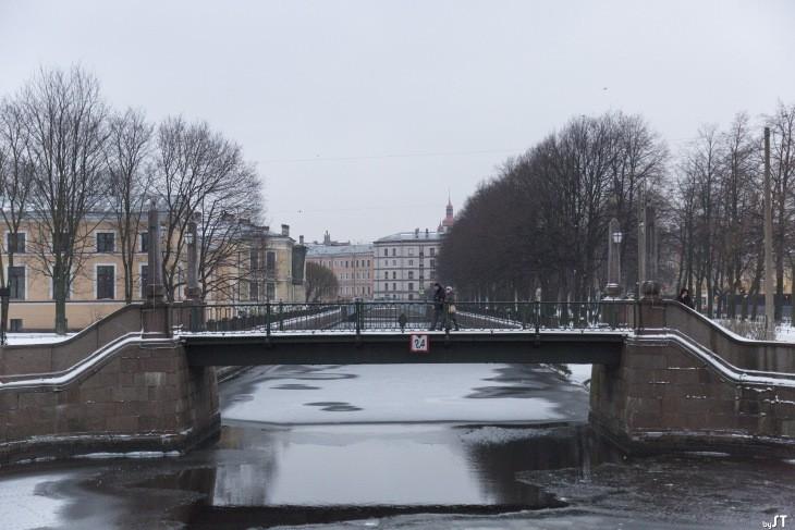 Passerelle sur un canal de Saint-Pétersbourg - Nord Espaces
