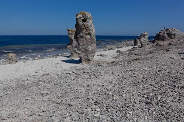 Raukar à Fårö, île de Gotland, Suède - Nord Espaces
