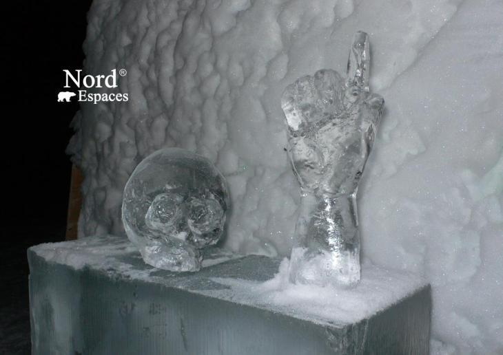 Sculptures de glace en Suède