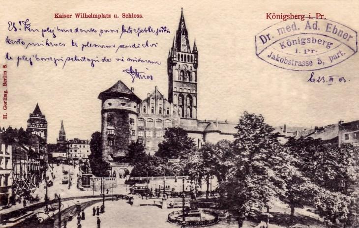 Carte postale de Königsberg