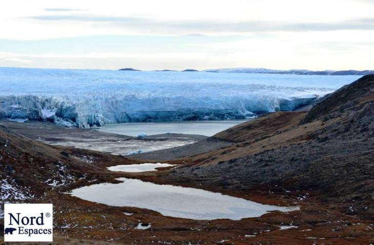 Vue sur la calotte glaciaire près de Kangerlussuaq au Groenland - Nord Espaces Boréalis