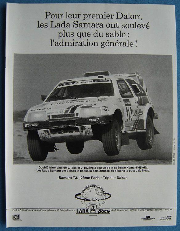 Lada Samara au Paris - Tripoli - Dakar, 1989
